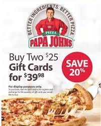 club papa john s gift card promotion