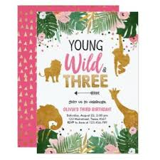 Jungle Theme Birthday Invitations Safari Birthday Invitations Birthdayinvitations4u