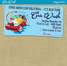 Car Wash Fundraiser Tickets Template