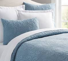 Washed Cotton Quilt, King/Cal. King, Pearl Blue | *Bedding ... & Washed Cotton Quilt, King/Cal. King, Pearl Blue Adamdwight.com