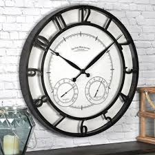 bulova 18 in h x w outdoor wall clock with 2 step metal 24 lighted round park firstime