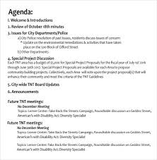 simple agenda layout template