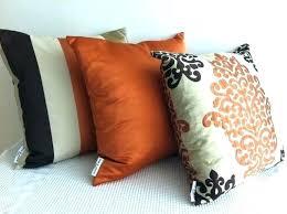 orange accent pillows. Orange Accent Pillows Burnt Decorative Set Of 3 Damask Dark Brown And Otter . I