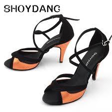 Patchwork Ballroom Dance Shoes <b>Women Latin</b> Dance Shoes ...
