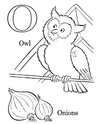 Small Picture Owl Coloring Pages Children Onions And Owl Alphabet Coloring