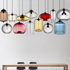 china coloured glass pendant lights for