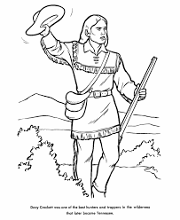 Small Picture David Davy Crockett Frontiersman Statesman coloring page