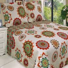 Red and Beige Cream Bedding | Quilt, Red green and Quilts & coverlets & Boho Chic Red Orange Lightweight Quilt Coverlet Set Adamdwight.com