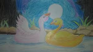 duck scenery drawing by hand scenery