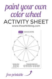 So my artist's color wheel represents the masstone color locations of the 90 most commonly used watercolor pigments, rather than color with this complete color wheel, and the explanation of how other artists have made their own color wheels, you can easily make color wheels of your own. Paint Your Own Color Wheel Free Printable The Art Kit