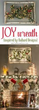 Ballard Designs Christmas Wreaths Diy Lighted Joy Wreath Inspired By Ballard Designs Diy