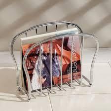 Interdesign York Lyra Over The Tank Magazine Holder Bronze Chrome Magazine Racks You'll Love Wayfair 47