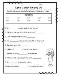 A collection of english esl worksheets for home learning, online practice, distance learning and english classes to teach about phonics, phonics. Long O Oa Ow Vowel Teams Worksheets Teaching Kindergarten Writing Phonics Worksheets