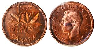 Coins And Canada 1 Cent 1945 Canadian Coins Price Guide