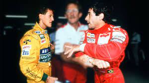 Ayrton SENNA and Michael SCHUMACHER ANGRY at Each Other - YouTube