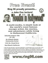 wild about harry  bringing houdini to seal beach