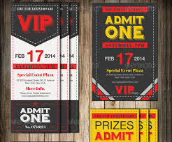 Vip Movie Ticket Template Personalized Vip Ticket Birthday Party