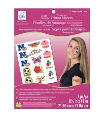 temporary tattoo inkjet printable sheet white 8 5 u0022x11 u0022