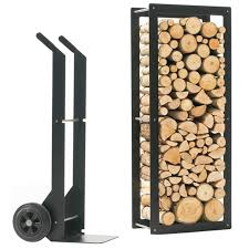Patios log indoor firewood rack ideas