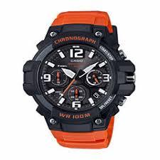 casio men s watches for jewelry watches jcpenney casio mens orange strap watch mcw100h 4av