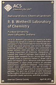 wetherill lab d national historic chemical landmark purdue  plaque