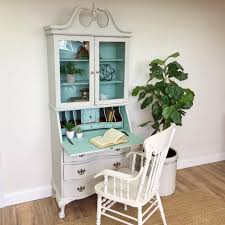 vintage home office. Antique Secretary Desk With Hutch \u2013 Home Office Furniture Vintage A