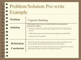 a guide to problem and solution essays how to write a standard  problemsolution pre write example problem solution refutation conclusion cigarette smoking offer help