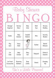 marvelous ideas baby shower games for s princess baby bingo cards printable prefilled baby shower