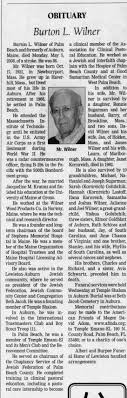 Obituary for Burton L. Wilner, 1921-2008 (Aged 86) - Newspapers.com
