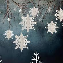 6 шт 3D Снежинка Потолочные <b>Подвесные Украшения</b> ...
