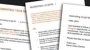 Customizable Email Marketing Scripts For Submitting An Application