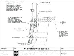 retaining walls design wind bearing fence or railing option 1 retaining walls designs