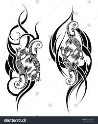 Lizard Tattoo Stock Vector Royalty Free 566105809 Shutterstock