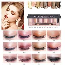 cosmetic makeup shimmer matte 12 colors eyeshadow palette sombras by dmzing es 02