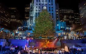 lighting ceremony in new york 28 november 2016 rock center tree