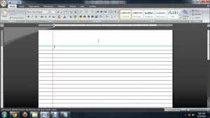 How To Make Lined Paper With Microsoft Word