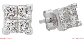 revere 9ct white gold 0 50ct tw diamond earrings 736 0695