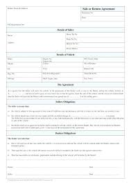 Sale Of Car Contract Deposit Contract Template Sample Purchase And Sale Agreement For Car