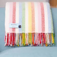 cornish ice cream herringbone stripe throw by atlantic blankets