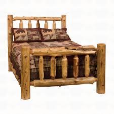 Log Bedroom Furniture Fireside Lodge Furniture Cedar Traditional Log Bed Santa Fe Ranch