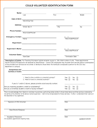 Emergency Contact Forms Free Employee Emergency Contact Form Pdf