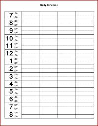 Printable Hourly Weekly Schedule Hourly Weekly Calendar Template Excel Free Printable Calendars
