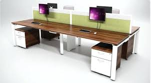 office desks for cheap. Plain Desks White Office Desks Aura Bench Rectangular Set Of 4 Mobile Pedestals  And Walnut   With Office Desks For Cheap