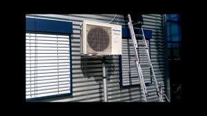 Montage Außengerät Einer Klimaanlage Mit Montagelift Youtube