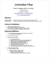 Samples Of Curriculum Vitae Inspiration 28 Dentist Curriculum Vitae Templates PDF DOC Free Premium