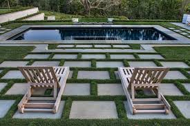 patio stones with grass in between. Unique Stones Lounging Area By The Pool Contemporarylandscape With Patio Stones Grass In Between P