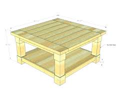 coffee table size square
