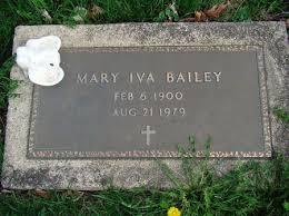 MONTGOMERY BAILEY, MARY IVA - Jefferson County, Iowa | MARY IVA MONTGOMERY  BAILEY - Iowa Gravestone Photos