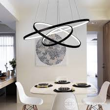 black rings modern led pendant lights