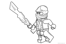 Lego Ninjago Coloring Pages Sketch Free Printable Coloring Pages
